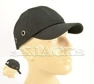 HARD HAT SAFETY BUMP BASEBALL CAP HEAD HELMET BLACK