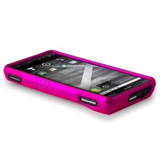 Pink+Leopard Hard Case Cover For Motorola Droid X Phone