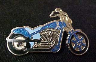 Colon Cancer Blue Ribbon Motorcycle Biker Pin Tac New