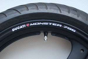DUCATI MONSTER 796 WHEEL RIM DECALS STICKERS   s4 s4r s