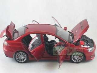 18 CSM MITSUBISHI LANCER EVO X red Diecast No AUTOART