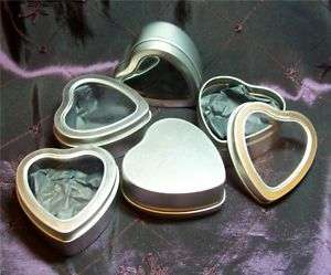 Metel Heart clear Window Jewelry Tins~Valentines Day Gifts