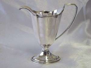 ANTIQUE SOLID SILVER CREAMER CREAM JUG BIRMINGHAM C1920