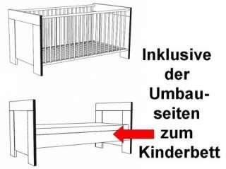 Babyzimmer Wiki Walnuss 4 tlg. Kinderzimmer Babybett