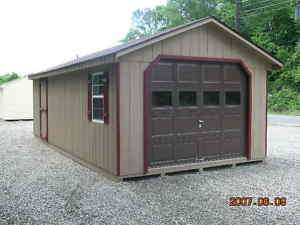 GARAGE SHED 10X20 from JD SHED ,NEW,WARRANTY,100%WOOD,100%AMISH