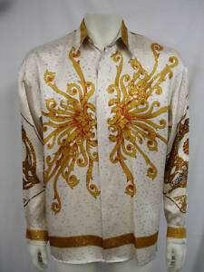 Creme de Silk Men`s 100% Silk Morning Metallic Shirts