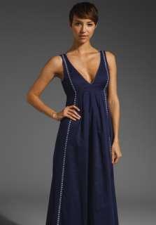 SUSANA MONACO Embroidered Anja Maxi Dress in Eclipse at Revolve