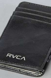 RVCA The Magic Wallet IV in Black Grey  Karmaloop   Global