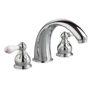 Mount Roman Tub Faucet Trim Kit with Crescent Spout in Polished Chrome