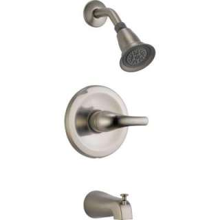 Peerless 1 Handle Single Spray Tub and Shower Faucet in Brushed Nickel