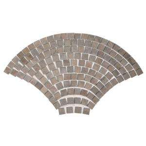 MARAZZI Porfido 30 in. x 52 in. Green Porcelain Fan Mosaic Tile UHEG