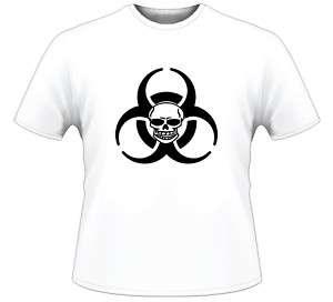 Biohazard Logo Skull Hazmat Hazard Symbol T Shirt