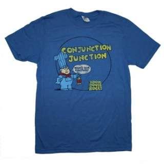 Schoolhouse Rock Blue Conjunction Junction Classic Cartoon Soft T