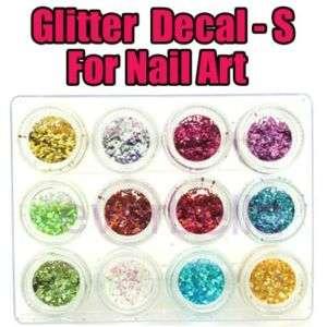 Glitter Dust Sticker deco for Nail Art FREE NAIL GLUE S