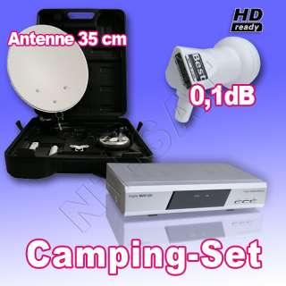 Camping SAT Anlage Digital im Koffer + Receiver M25/12V