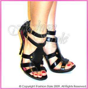 MICHAEL ANTONIO Gladiator Faux Leather High Heels Shoes
