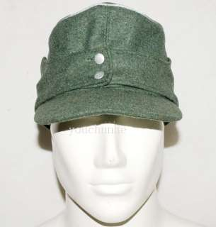 WWII GERMAN WH OFFICER M43 PANZER WOOL FIELD CAP L  31734