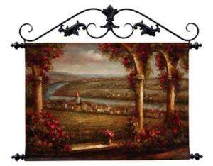 Hand Painted Canvas Landscape Wall Hanging Scoll Top