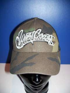 NEW ERA WOMENS WEST COAST CUSTOMS SM MED CAMO CAP NEW
