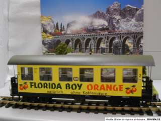 Lehmann LGB 3072 Personenwagen FLORIDA BOY ORANGE SpurG