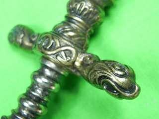 Replica of Italian Antique Lion Head Stiletto Dagger Fighting Knife