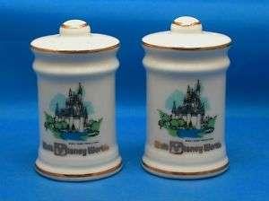 Walt Disney World Souvenir China Salt & Pepper Shakers
