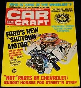 1968 CAR CRAFT MAGAZINE FORD BOSS 429, ALL STAR DRAG TEAM