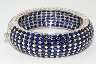 5,000 75.00CT OVAL CUT BLUE SAPPHIRE CLUSTER BANGLE BEAUTIFUL