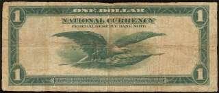 1918 LARGE $1 DOLLAR BILL GREEN EAGLE FR BANK NOTE Fr 713 OLD PAPER