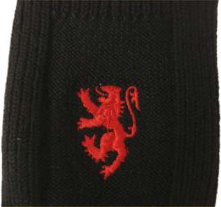 New Pair Of Red Lion Black Merino Wool Kilt Hose Sock All Sz