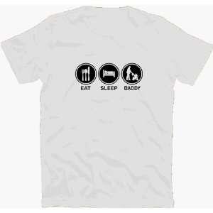 EAT SLEEP DADDY vater papa familie T Shirt S XXL  Sport
