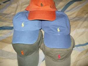 LAUREN POLO MENS BASEBALL HAT BALL CAP LOGO 1 SIZE FREE U.S. SHIP