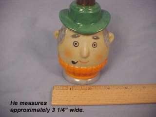 Vintage IRICE Japan Pipe Smoking Man Porcelain Figural Perfume