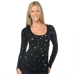 twiggy LONDON Jeweled Cotton Cashmere Sweater