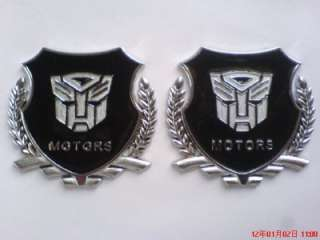 pcs Silver Transformers AUTOBOT Car stickers Emblem Metal Badge Logo