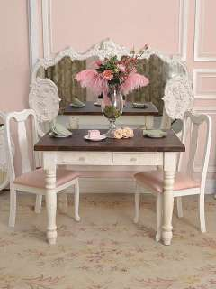 Shabby French Chic Farmhouse Dining Table Desk White SM