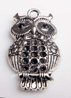 Pcs Tibetan silver Owl charms Pendants 47 mm*26mm