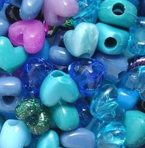 & Purple Heart Pony Beads Plastic 12mm Avatar Valentines Day & More