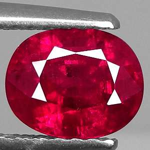 61 CT CERTIFIED CAPTIVATING OVAL CUT NATURAL RED RUBY