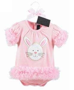 24M) Sweet Baby Girl Easter Bunny Rabbit Tutu Ruffle Vest Dress