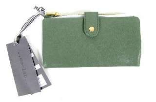 Christopher Kon Co Lab Green Blue Zip Wallet Clutch Bag