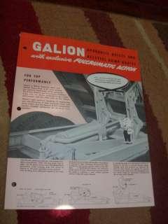 GALION HTDRAULIC HOIST DUMP BODIES SALES BROCHURE
