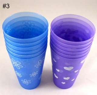 Plastic Drinking Cups – 3 different designs to Choose From