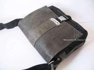 _Wherever_ Mens Leather/Nylon Shoulder Bag(M6)