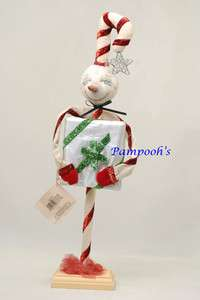 Joe Spencer Oliva Candy Cane Gathered Traditions Christmas Folk Art