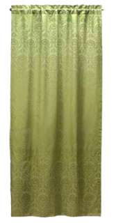 SAGE GREEN DAMASK WINDOW PANEL DRAPE**43 x 84**NIB