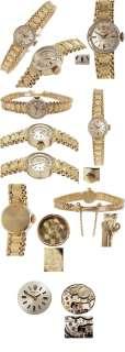 Rare 1960s Rolex Solid 14K Yellow Gold Ladys Bracelet Watch, Mint