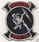 USMC VMFA 134 Marine Fighter Attack Sq Predators Patch