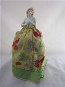 Vintage Pincushion Pin Cushion Doll Germany Porcelain