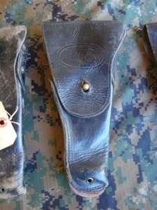 Lot USMC Army Surplus Colt 45 M1911 Black Leather Sidearm Pistol